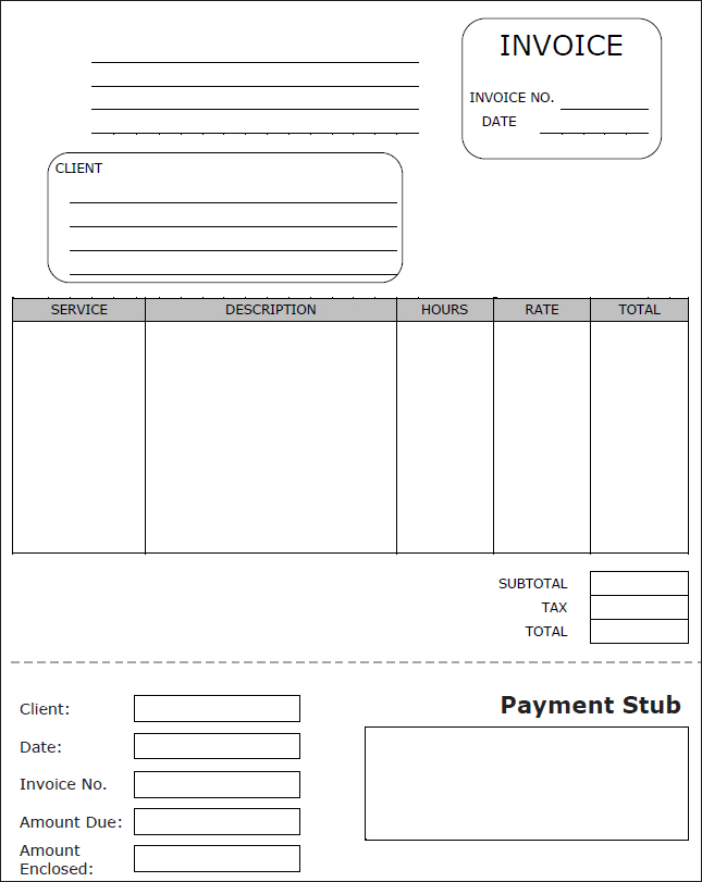 free check stub template word