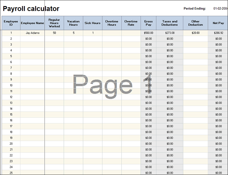 Paycheck Calculator Excel