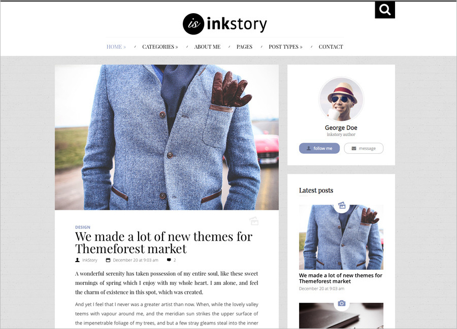Personal, News, Blog WordPress Theme