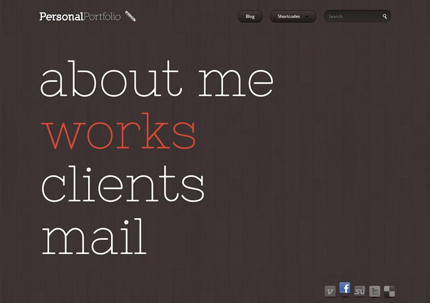 Personal Portfolio Creative Website Template