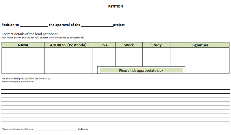 Petition Templates - Free PDF, Word Documents Download | Creative ...