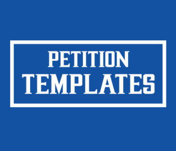 Petition templates
