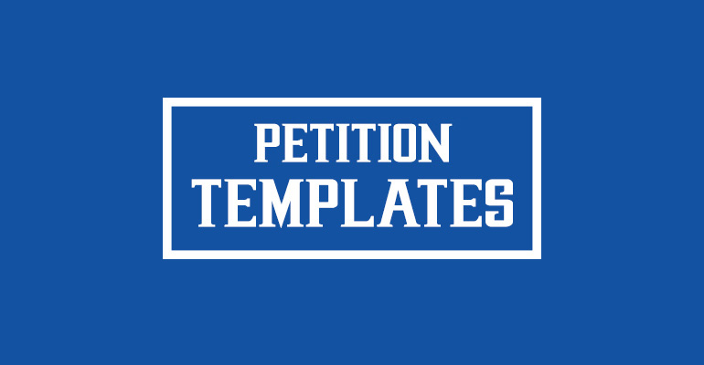 Petition Templates  Free Pdf Word Documents Download  Creative