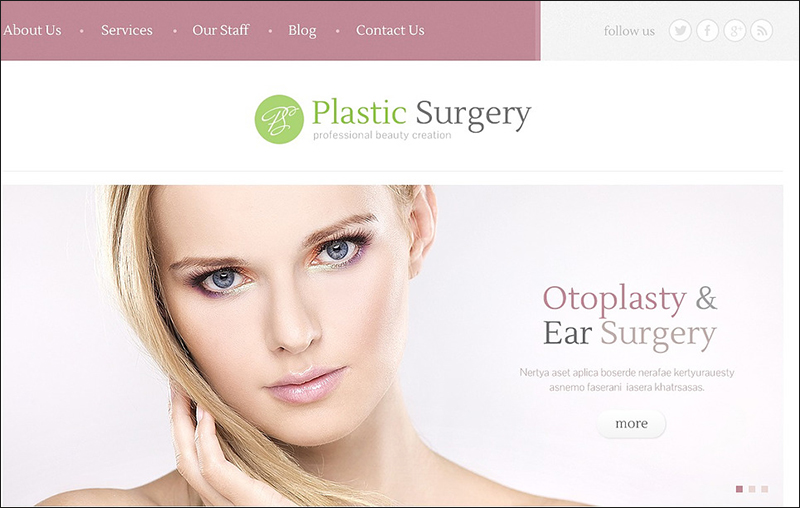 Plastic Surgeon WordPress Theme