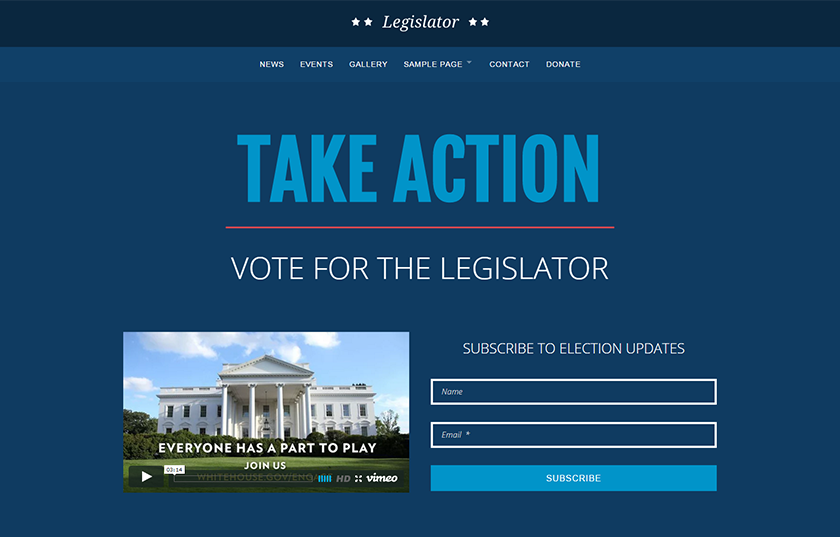 Political WordPress Campaign Theme