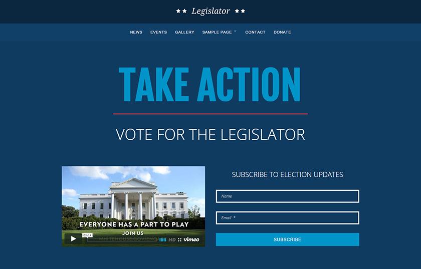 Political WordPress Campaign Theme