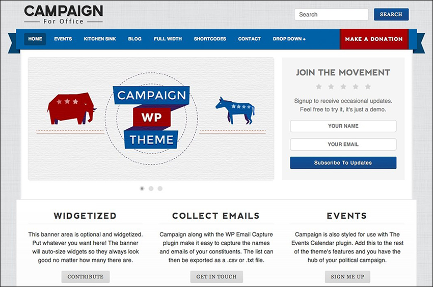 Political WordPress Theme For Campaign