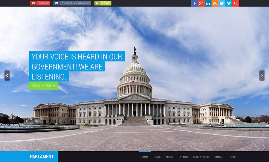Political WordPress Themes For Political Parties