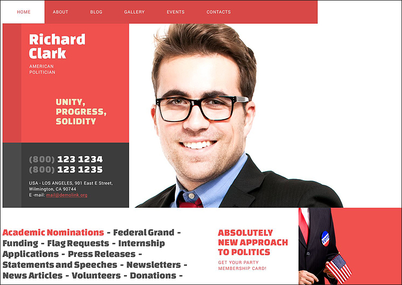 Politics WordPress Template