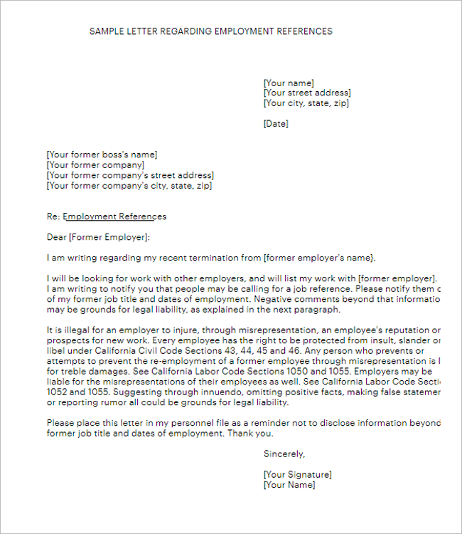 Professor Reference Letter Template