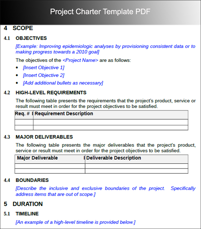Project Charter Templates | Word And Pdf Download | Creative Template