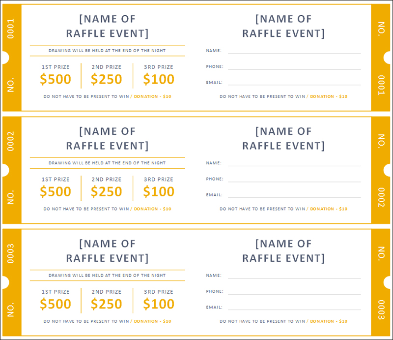 raffle ticket template