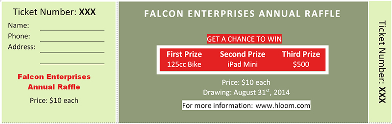 Raffle Ticket Templates Sample ...  Fundraiser Ticket Template Free Download