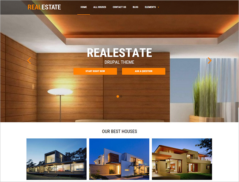 Real Estate Business Drupal Template