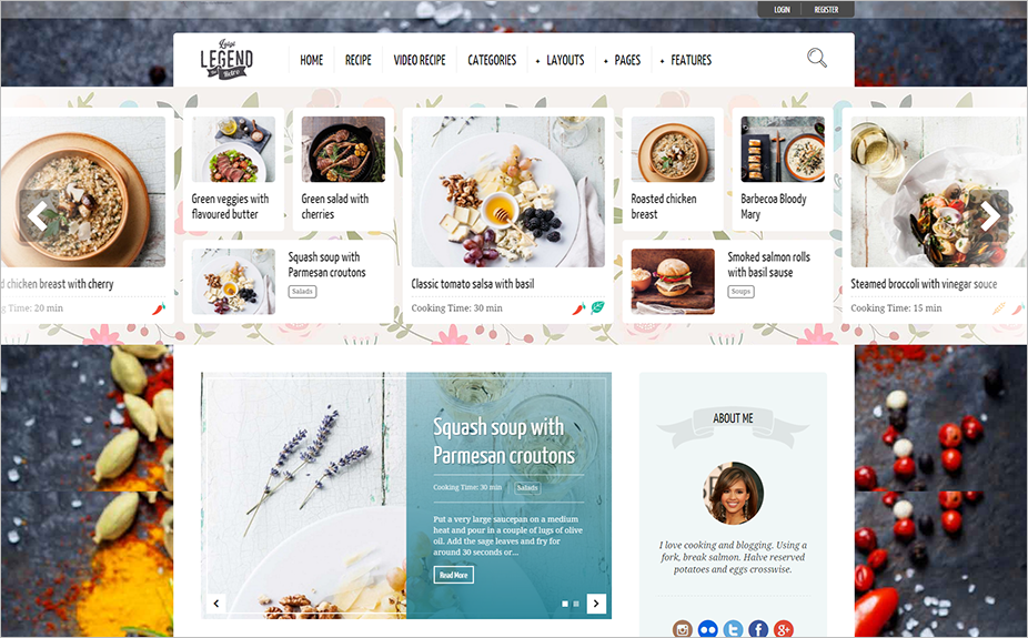 Recipe Bloggers Template SEO Optimized