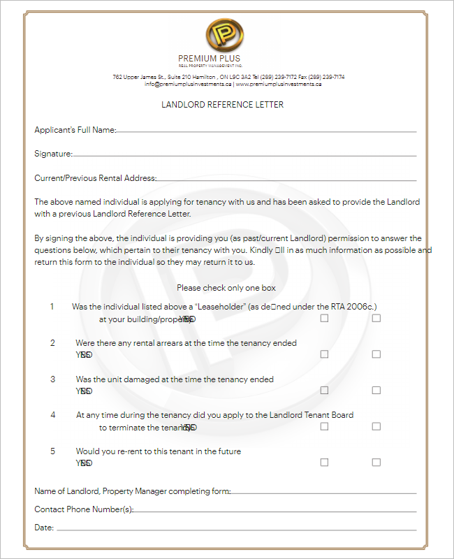 Reference Letter Template For Teacher