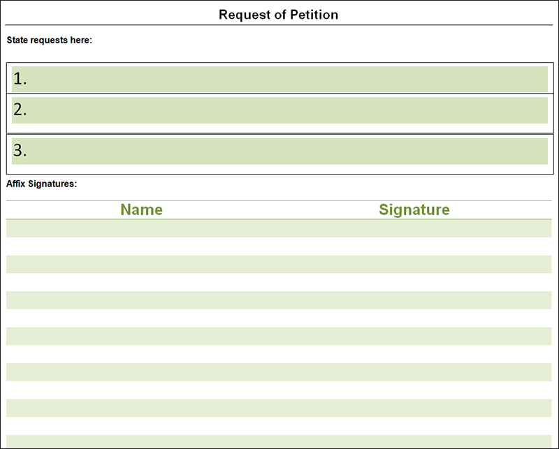 free petition templates examples