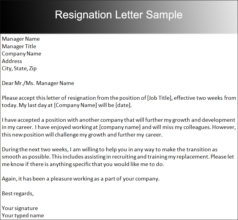 Two Weeks Notice Letter Templates Free PDF Word Documents – Sample Resignation Letters with Notice Period