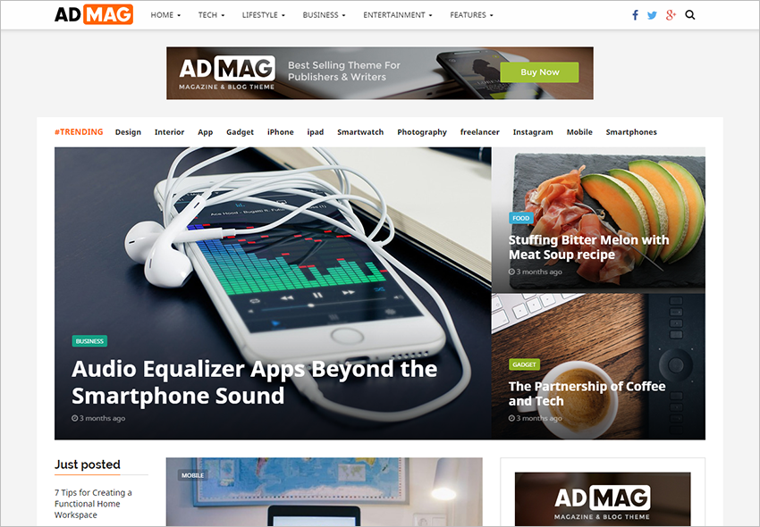 Responsive Blog & Magazine Theme