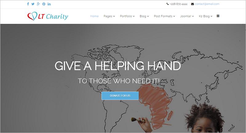 Responsive Charity Joomla template