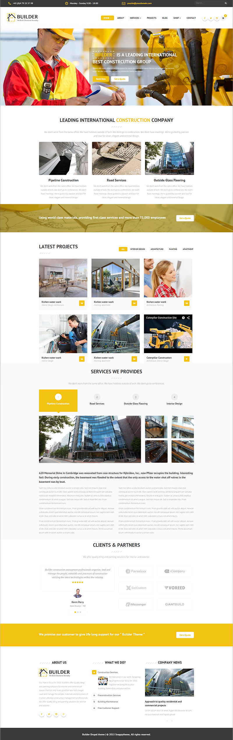 Responsive Construction Drupal Theme
