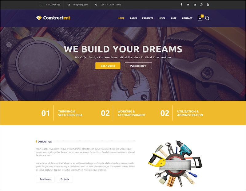 Responsive Construction HTML Template