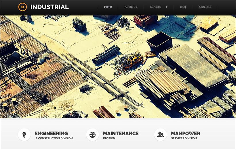 Responsive Design Industrial Joomla Template