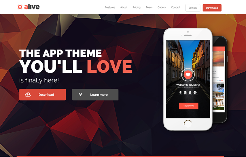 Responsive Dynamic Bootstrap Landing Page