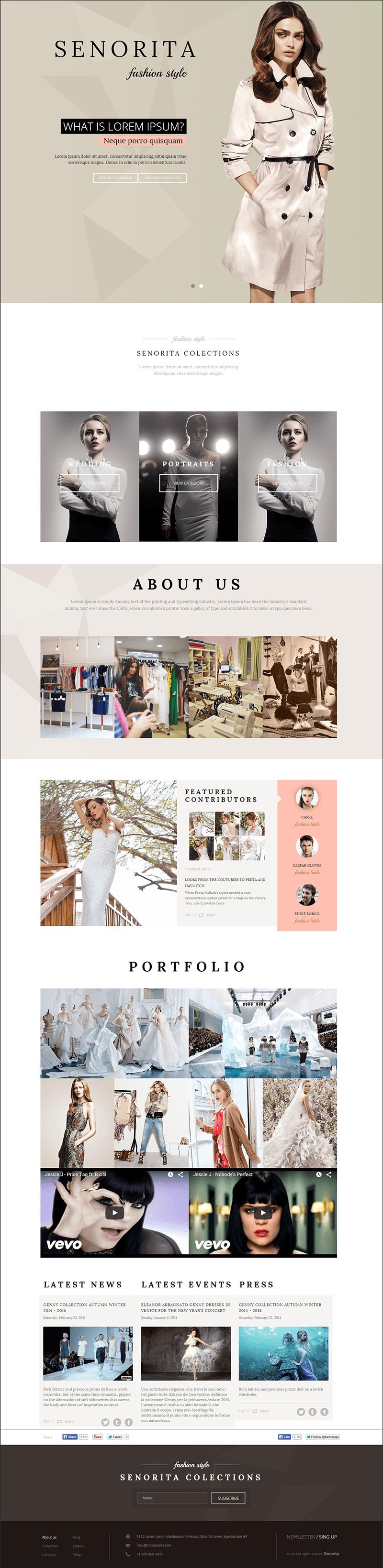Responsive Fashion Designer HTML Template