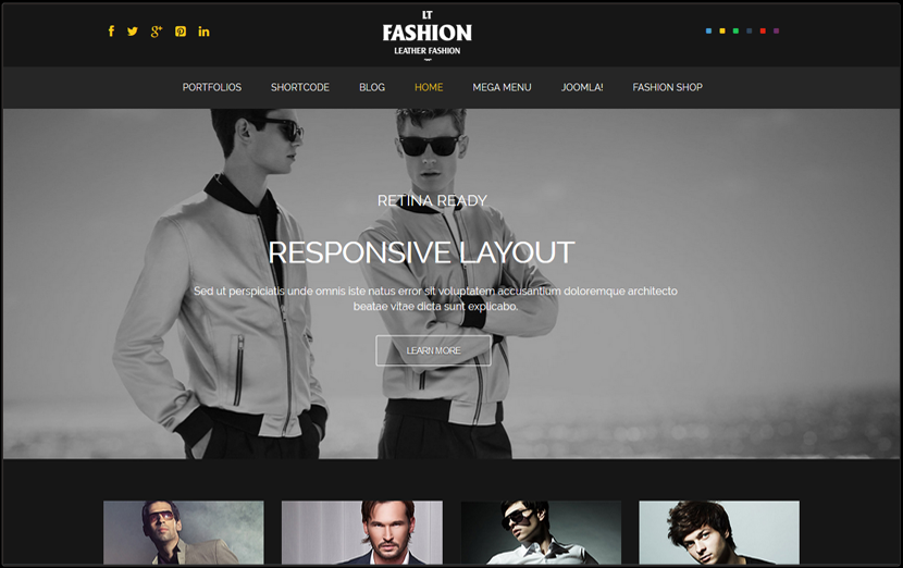 Responsive Fashion Joomla Theme
