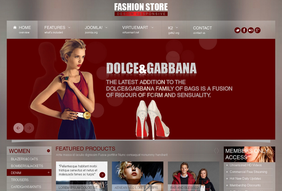 Responsive Fashion Store Joomla Theme