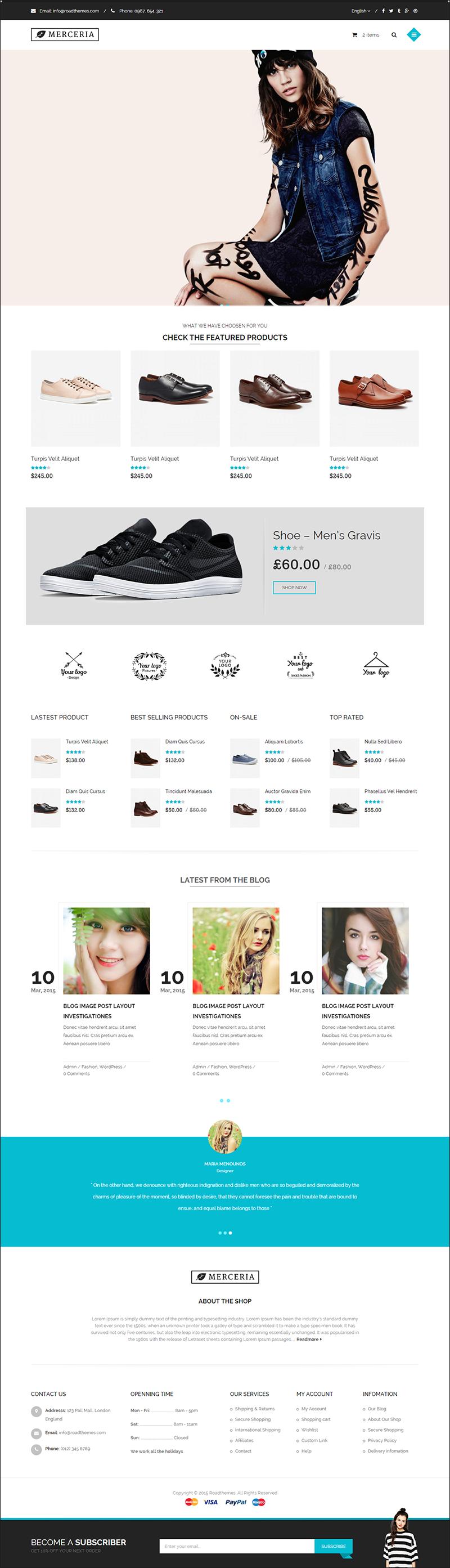 Responsive HTML Fashion Designer Theme