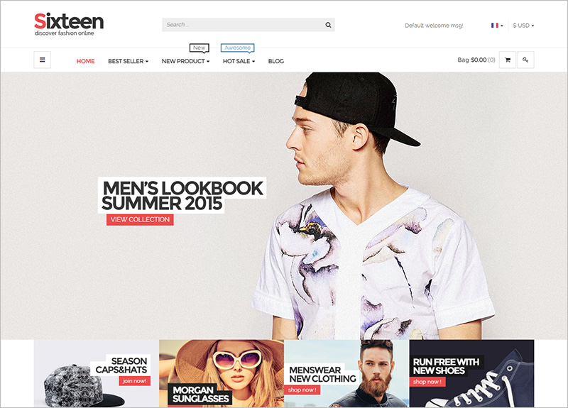 Responsive HTML Fashion Template