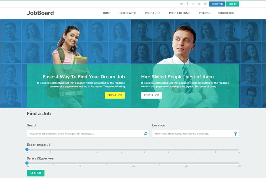 Responsive Job Portal HTML Template
