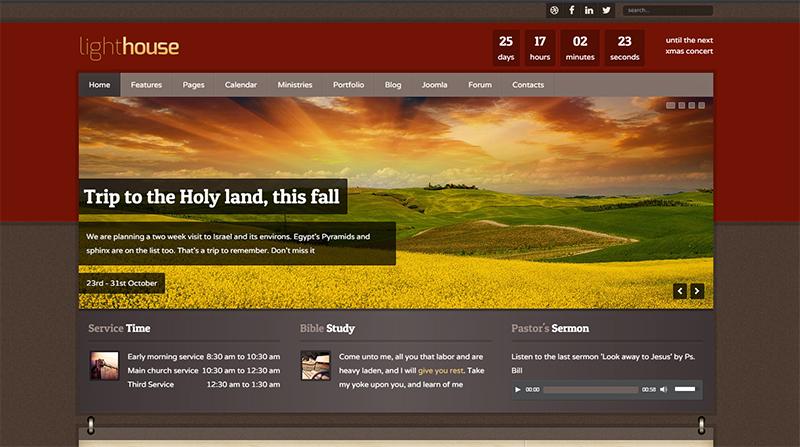 Responsive Joomla Church Template