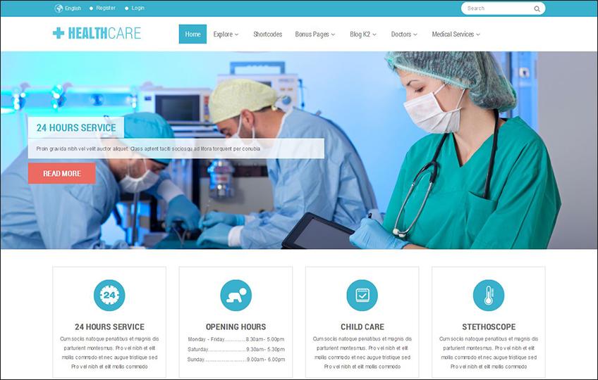 Responsive Joomla Healthcare Template