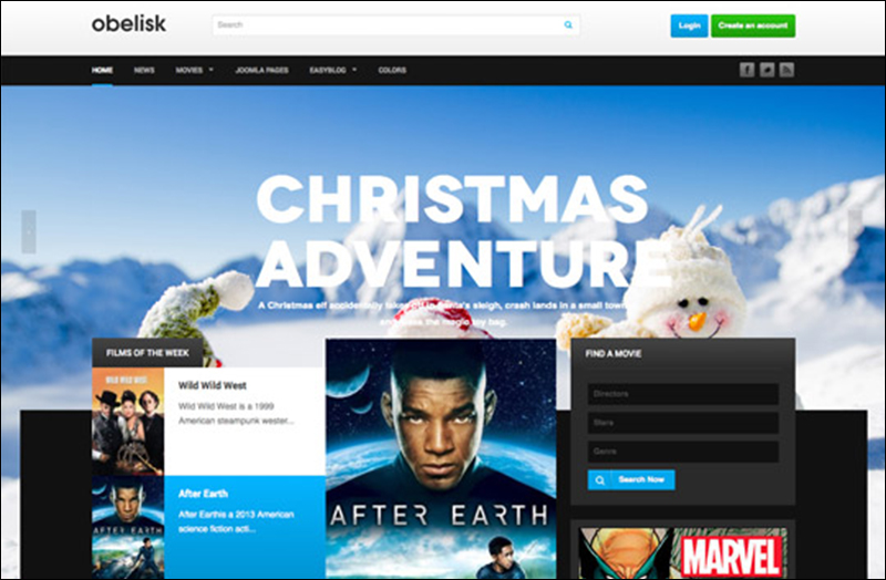 Responsive Joomla Template for Movie & Entertainment