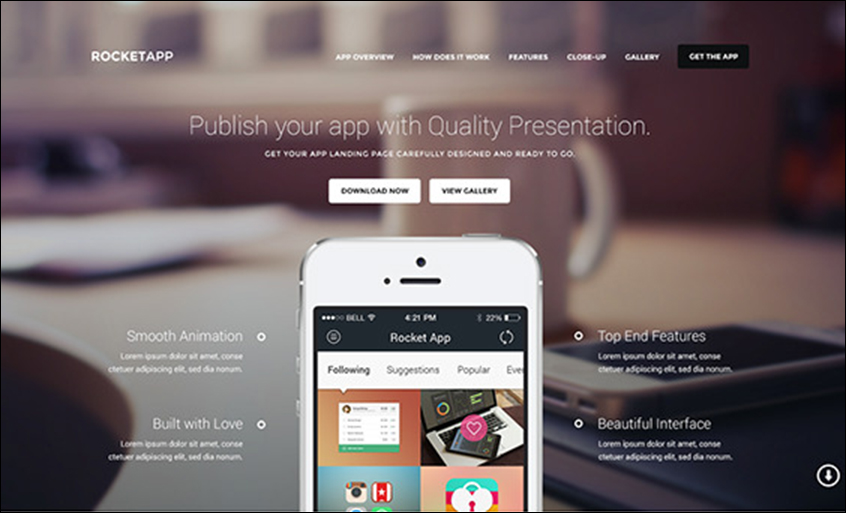 Responsive Landing Page PSD Template