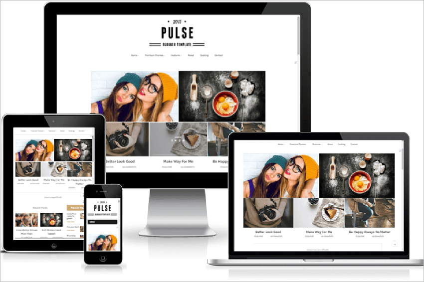 Responsive Magazine Blogger Template