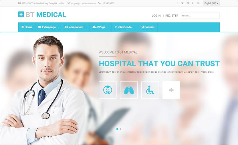 Responsive Medical Joomla Template