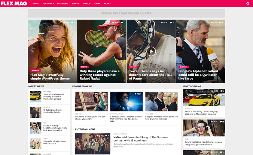 Responsive News & Blogger Magazine Theme