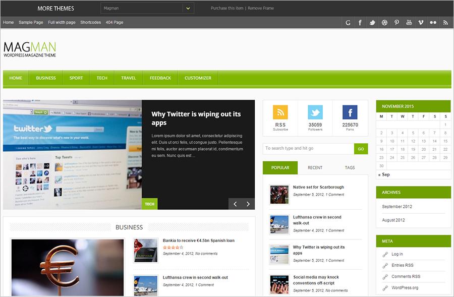 Responsive News Blogging WP Theme