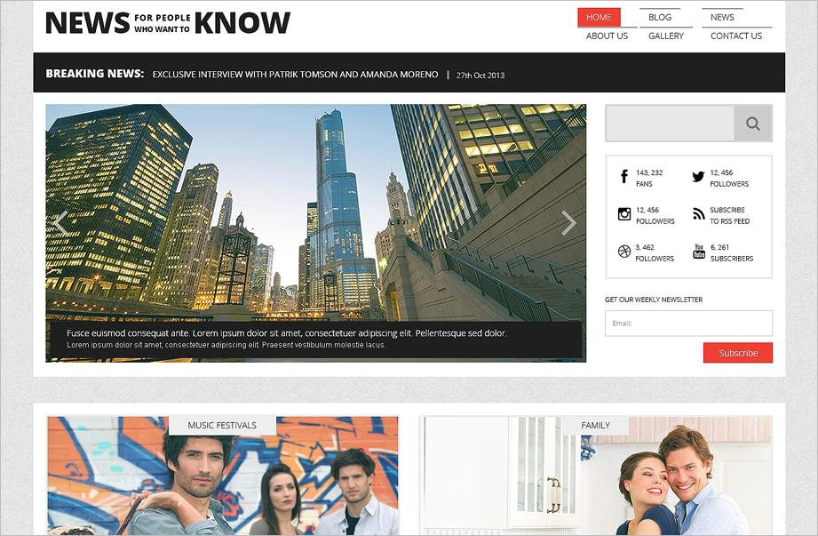 Responsive News Portal & Blog WordPress Theme