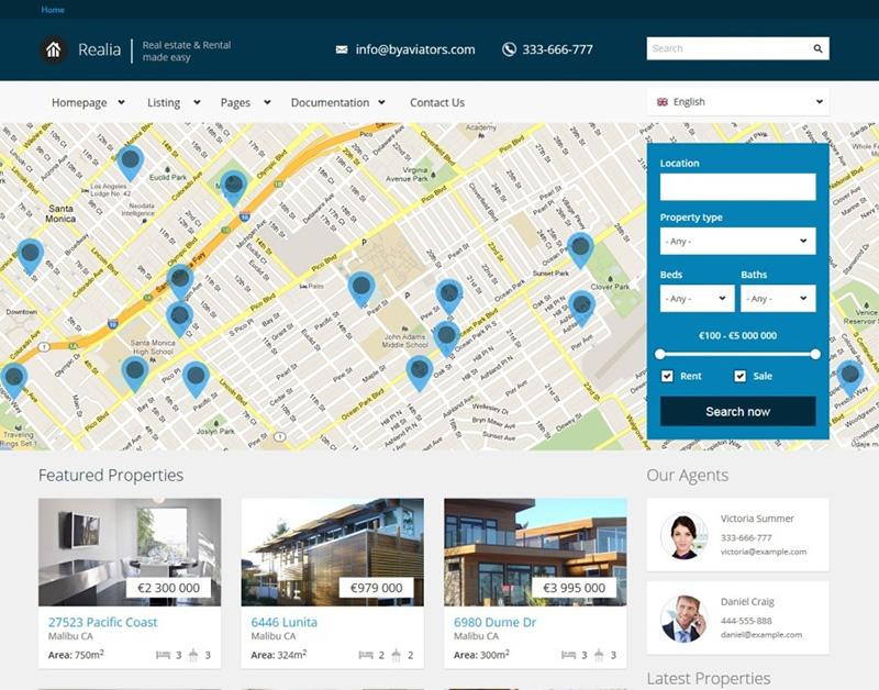 Responsive Real Estate Drupal Theme