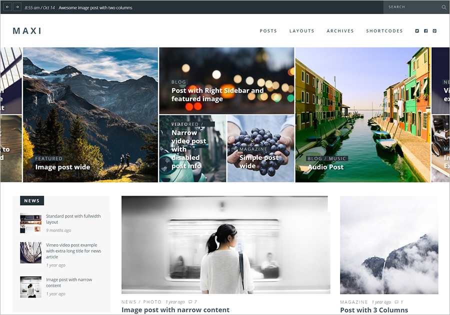 Responsive & Retina Ready Magazine Blogging Theme