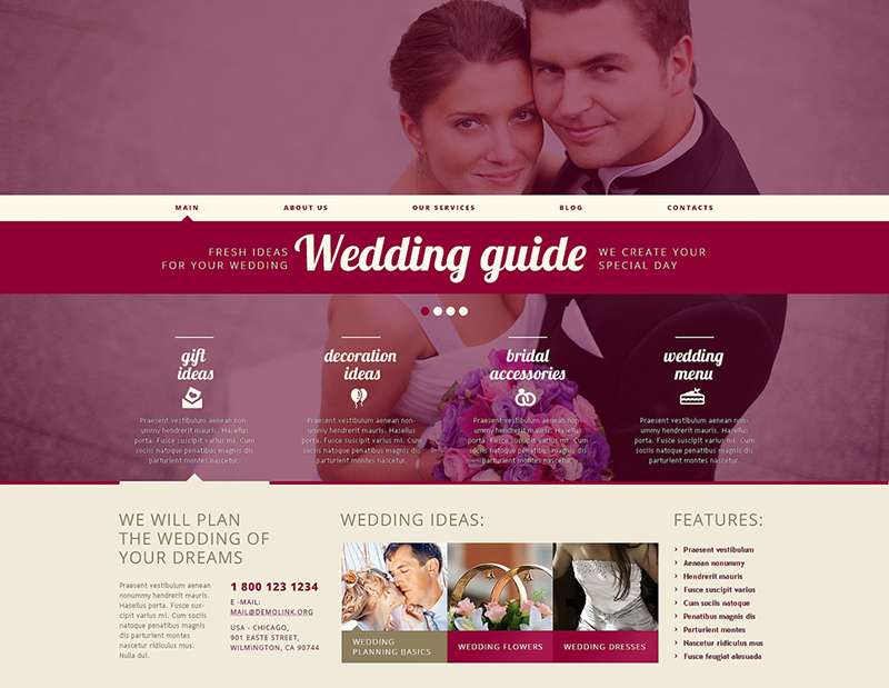 Responsive Wedding Planner WordPress Theme