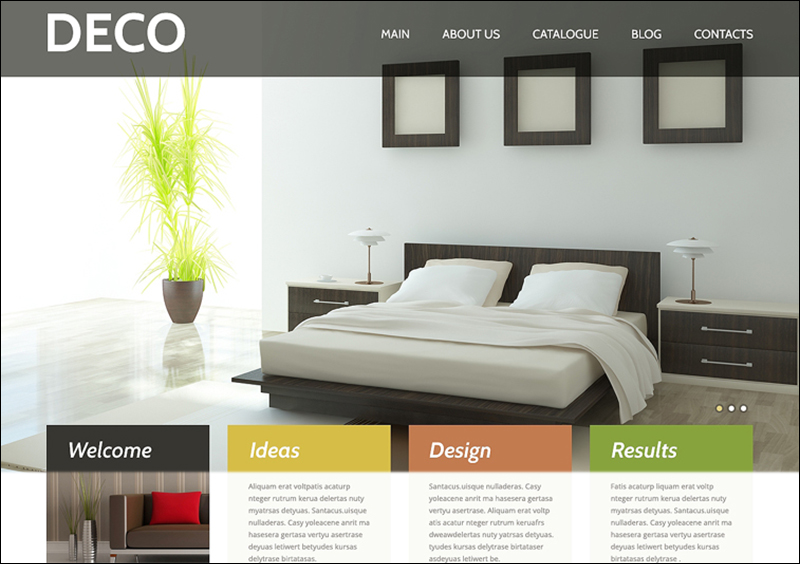 Responsive WordPress Interior Design Theme