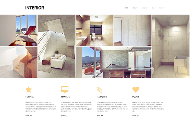 Responsive WordPress Interior & Furniture Template