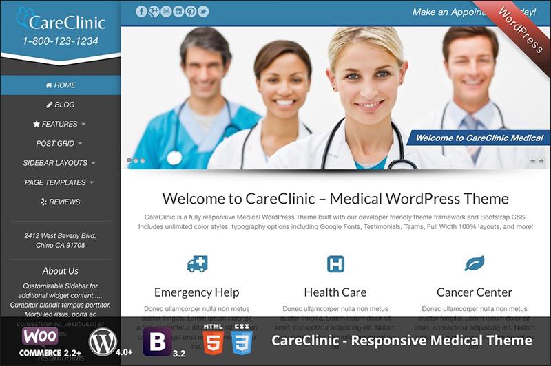 Responsive WordPress Medical Theme