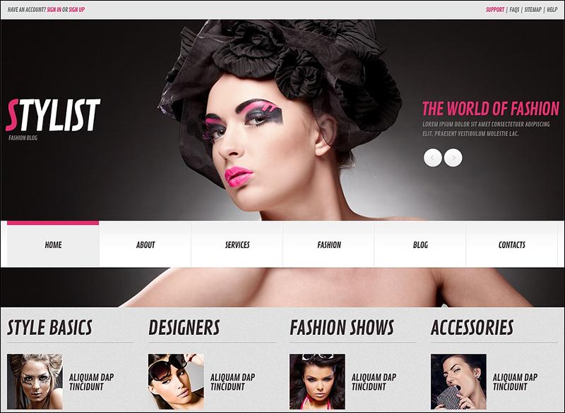 Responsive WordPress Model Agency Theme